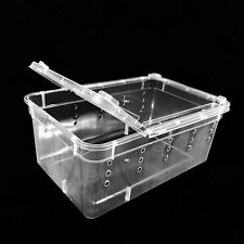 10x Breeding Box Feeding Case Reptile Transport Gecko Lizard Spider Insect Cage