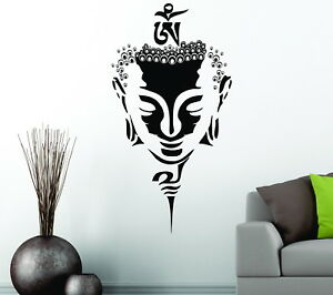 Mask Buddha  Gautama Shakyamuni Decorative Vinyl Wall Sticker Decal Yoga Studio