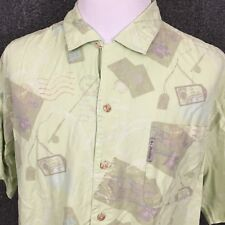 Columbia River Lodge Men's Graphic Short Sleeve Button Front Casual Shirt 2XL