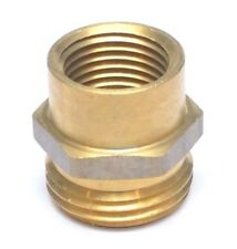 "3/4"" Female NPT to 3/4"" Male GHT Garden Hose Thread to Female Pipe Adapter Brass"