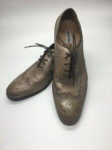 Johnston & Murphy 200712 PF50 Men's Wingtip Shoe 10 M Gray Leather Lace Up