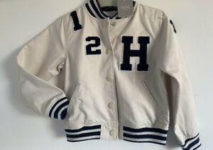 Next Boys beige baseball summer cotton jacket coat Age 5-6 Years 946-711-422