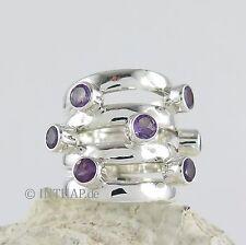 Echte Edelstein-Ringe mit Amethyst und Fantasie für Damen