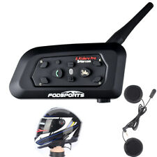 1200m 6 Riders Intercom Wireless Motorcycle Helmet Interphone Headset V6 System