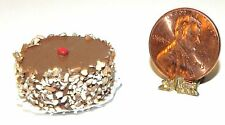 Dollhouse Miniature Cake German Chocolate with Nuts Small Wonders 1:12 Scale