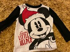 Boys Long Sleeve Top Mickey Mouse Christmas Age 2-3