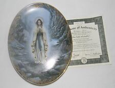 Our Lady of Lourdes Plate by Hector Garrido Visions of Our Lady Collection Coa