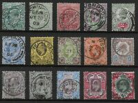KEVII Set-1/2d.To 1s.-One Of Each Value & Colour-READABLE YEAR IN PMKS. Ref:0821