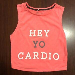 Supre Crop Top Size XS Hey Yo Cardio Gym Exercise Tank Activewear Petite