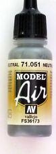 Vallejo Model Air Paint: 17ml  71051 Neutral Grey