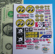 HO 1:87 Slot Car OR Diecast CUT and PEEL STICKERS, FOR BUILDINGS,CAR MOON LARGE