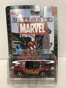 Maisto Ultimate Marvel Spiderman Plymouth Pronto Spyder #9837-1 NRFP 2002 1:64
