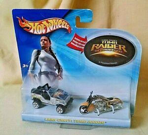 TOMB RAIDER HOT WHEELS SET JEEP MOTORCYCLE LARA CROFT CRADLE OF LIFE NEW 2003*