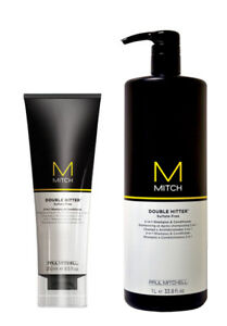 Paul Mitchell Mitch Double Hitter 2 In 1 Shampoo and Conditioner 8.5oz OR 33.8oz