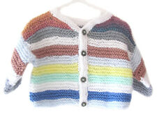 New Kss Handmade Sunset Colored Striped Toddler Sweater 2 Years/3T Sw-253