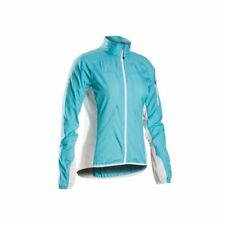 Chaqueta Ciclismo de Mujer BONTRAGER Race Windshell Color Celeste-Blanco Talla M
