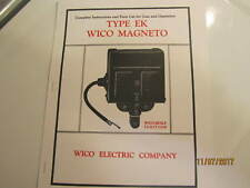 Color 1929 Wico Ek Magneto Service & Parts Manual Hit Miss Engines
