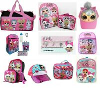 LOL Girls School Backpack Book bag Lunch box Hat Pink Toddler Cute Kids Gift