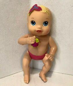 "Baby Alive Kicks N Cuddles Baby Doll Mini 6"" Blue Eyes 2012 Works"