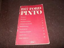 1977 FORD PINTO NICE USED FACTORY ORIGINAL OWNERS MANUAL
