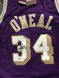 Shaquille O'neal Signed Mitchell & Ness Lakers Jersey Chinese New Year BAS