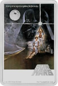 2020 $2 Niue Two Dollar Star Wars: A New Hope Poster 1oz Silver Coin