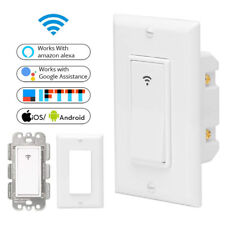~US Plug Timer 1 Gang Smart Home LED Light Dimmer Wifi Wall Switch Touch Panel