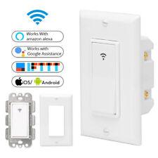 Hot WiFi Smart Light Switch US Plug 2000W Wireless Remote Control In-Wall Switch