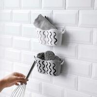 New Sink Shelf Sponge Drain Rack Bathroom Holder Kitchen Storage Suction Cup HL