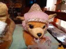 Small PINK with SPARKLE GOLD PRINCESS FUR Trim