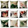 Retro Lotus Flower Floral Throw Pillow Case Sofa Car Cushion Cover Home Decor