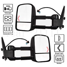 Power Heated Towing Mirror Pair For 03-06 Silverado Sierra Tahoe Yukon w/turnsig
