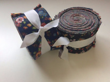Vintage floral Shabby chic Dark precut 100% cotton fabric quilt strips 2.5 inch