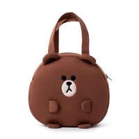 Fashion Korea LINE FRIENDS Brown Sally Pong Pong Lunch Bag Mascot Gift