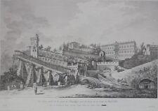 Gravure XVIIIe, Naples, Hubert Robert, Saint-Non, Etching 18th Incisione Napoli