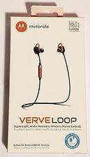 Motorola Verveloop Water Resistant Bluetooth Wireless Stereo Headphones - Orange