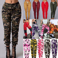 Women's Cargo Jogging Trousers Camo Military Army Combat Casual Outdoor Pants