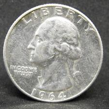 Usa Quarter Dollar 1964 Silver Coin #1076
