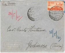 53327 - ITALIA COLONIE: AOI - Storia Postale: BUSTA POSTA AEREA  da  GIMMA 1940
