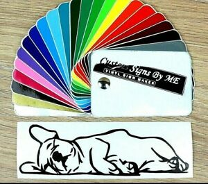 French Bulldog Sleeping Sticker Vinyl Decal Adhesive Wall Window Bumper Laptop B