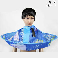 Waterproof Kids Hair Cutting Cloak Umbrella Cape Salon Barber M8O7