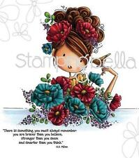 New Stamping Bella Cling Rubber Stamp Uptown Girl Fiona Loves Flowers