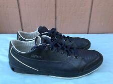EUC RARE Alexander McQueen Puma Men US 9 Black Silver Leather Sneakers Shoes A9