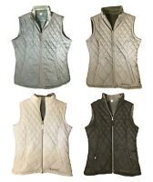 Womens Free Country Reversible Diamond Quilted Lightweight Vest Pockets Variety