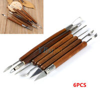 DIY 6PC Clay Sculpting Set Wax Carving Pottery Tools Shapers Polymer Modeling SG