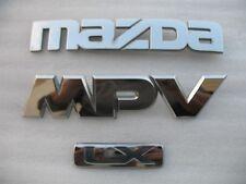 2000 MAZDA MPV LX REAR TRUNK EMBLEM DECAL LOGO SET 00 USED OEM