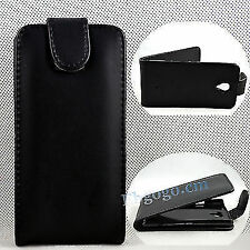 Black Flip Leather Protective Cover Hard Case For Sony Ericsson Xperia T LT30P