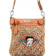 New Betty Boop Women Leather Messenger Crossbody Bag Purse Wallet Clearance Sale