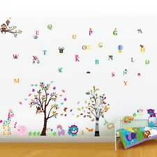 Wall Stickers Mural Decal Paper Art Decoration Kids Photo Frame Alphabet Animal