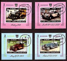 AJMAN  Voiture anciennes 1898/1909 , Nouvelles 1930/1939  H32